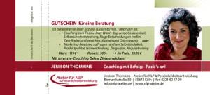Coaching Gutschein JT