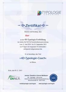 4D Typologie Zertifikat
