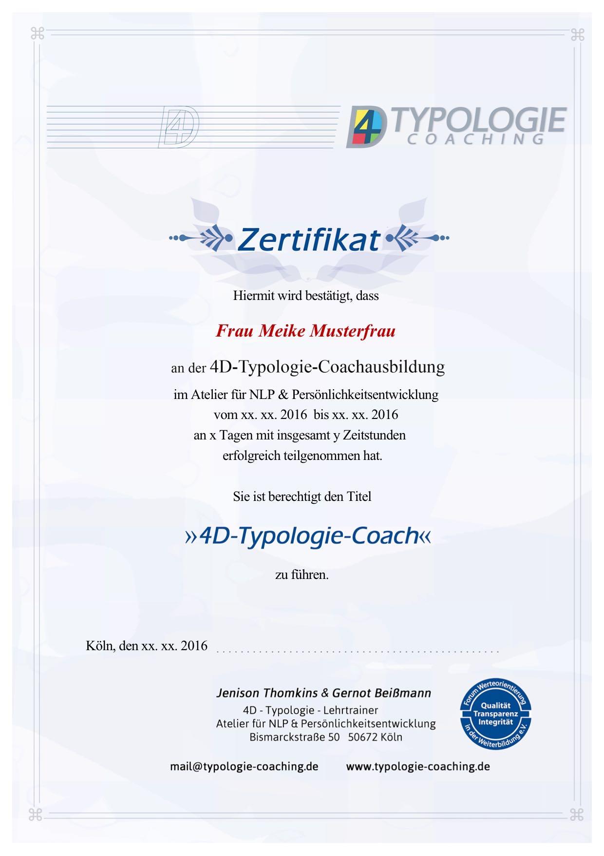4D-Zertifikat